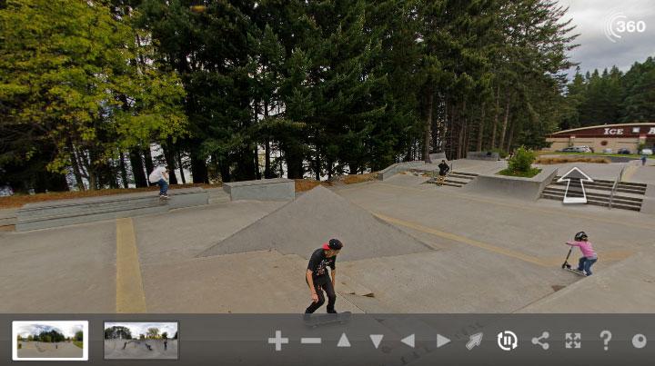 360 Degree view of Queenstown Skatepark
