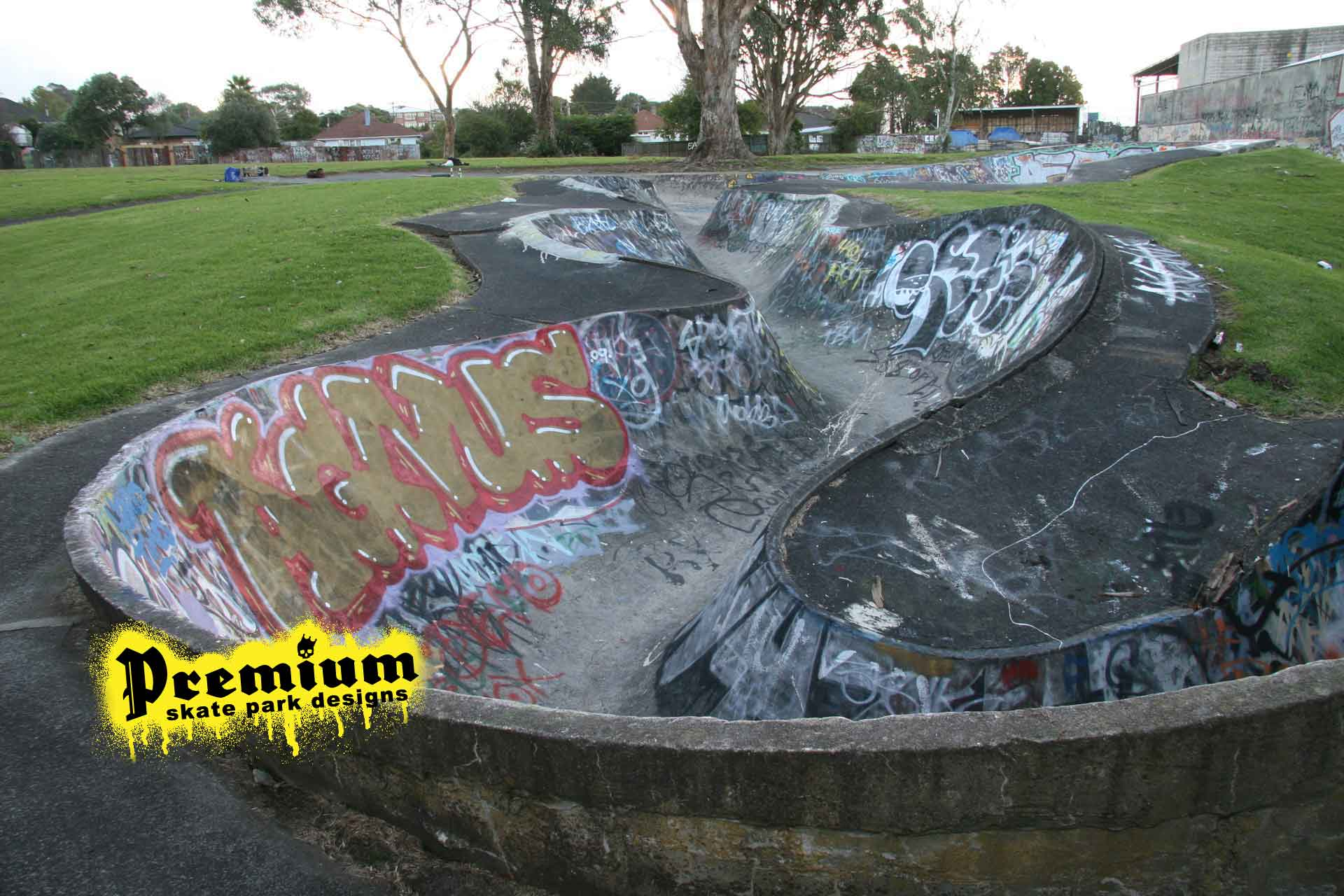 New Lynn bowl before renovation - Premium Skate Designs